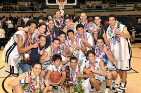 Kamehameha HS Basketball Champs. Photo by Alan Kang