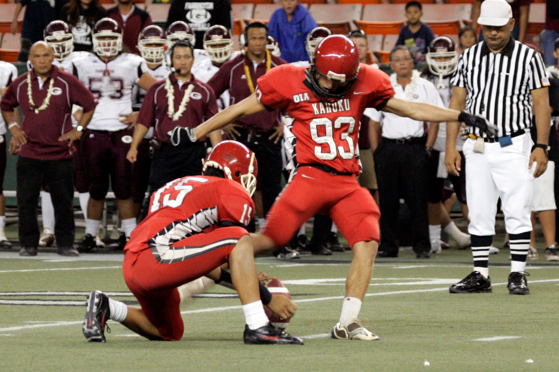 Kahuku HS. Photo by Michael Sullivan